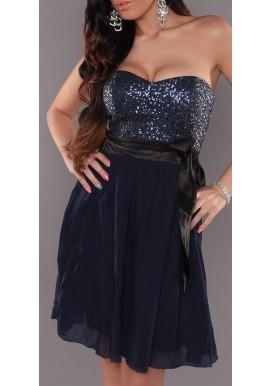 Blue night kjole